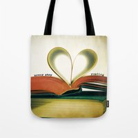 read Tote Bags featuring Read by Lawson Images