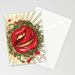 Lovable lips Stationery Cards