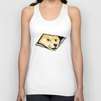 doge Tank Tops featuring Ceiling Doge by Jimiyo