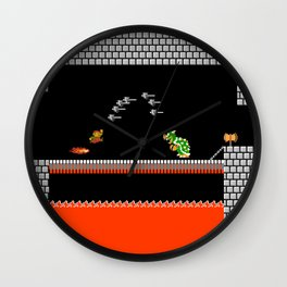 Mario Bowser Fight Wall Clock