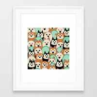 shiba inu Framed Art Prints featuring Shiba Inu by Modify New York