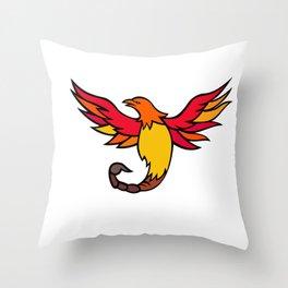 Phoenix Bird With Scorpion Tail Mascot Throw Pillow