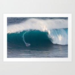 "Surfing ""Jaws"" (Pe'ahi) Art Print"