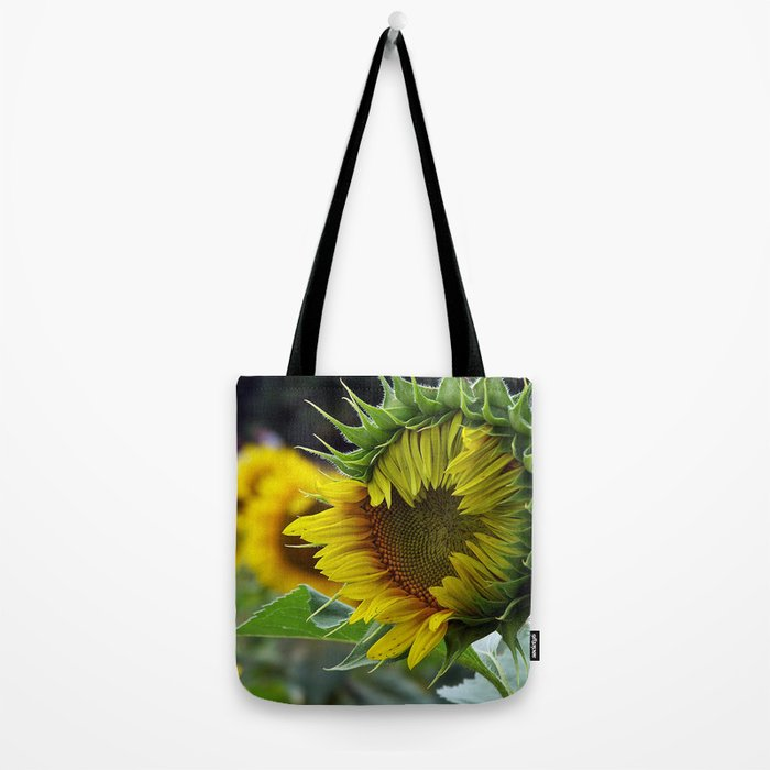 Sunflower Unfolds Tote Bag