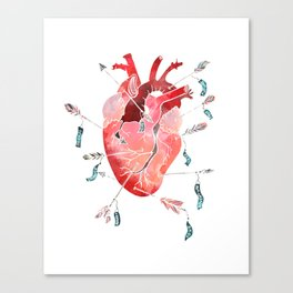 Arrows to the heart Canvas Print