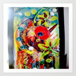 Booming Reds Art Print