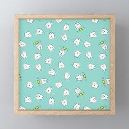 Teeth in crown Framed Mini Art Print