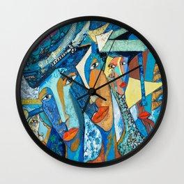 Mis reflejo, Olio/ lienzo técnica mixta Wall Clock