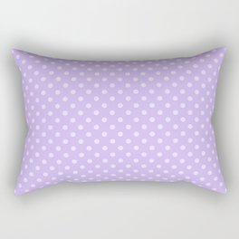 Purple background with polka dot Rectangular Pillow