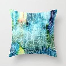 Woven Watercolor Throw Pillow