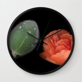 old and young - on black Wall Clock