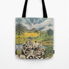 Mountain sound Tote Bag