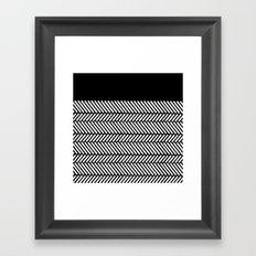 Herringbone Boarder Framed Art Print
