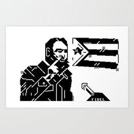 Fidel Art Print
