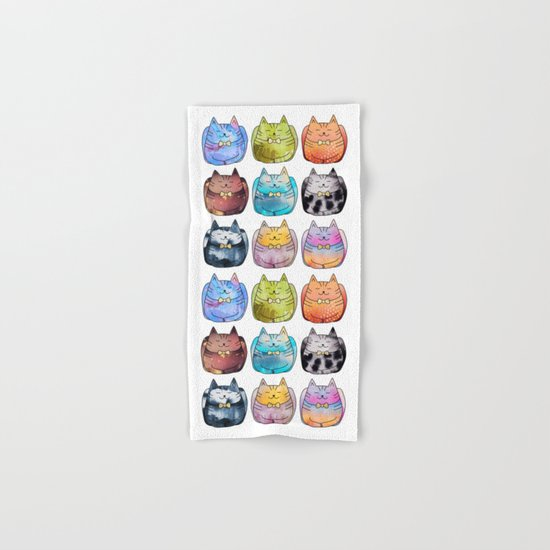 Colorful Cats Hand & Bath Towel