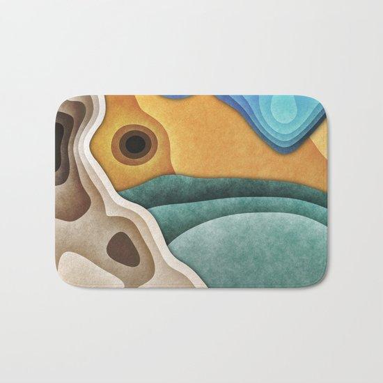 Landscape of Layers Bath Mat