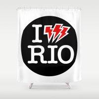 rio de janeiro Shower Curtains featuring I Shock RIO de Janeiro by Stir Tone