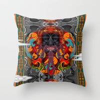 sacred geometry Throw Pillows featuring Sacred Geometry by Robin Curtiss