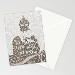 Rome of Gladiators - vintage map Stationery Cards
