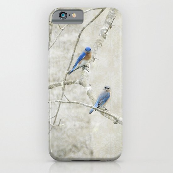 Bluebirds in Spring iPhone & iPod Case