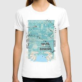 El amor es un monstruoso diseño! T-shirt