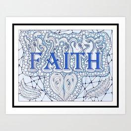 Faith Blue Art Print