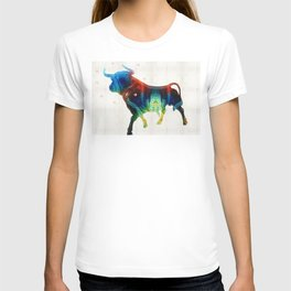 Bull Art Print – Love A Bull 2 – By Sharon Cummings T-shirt