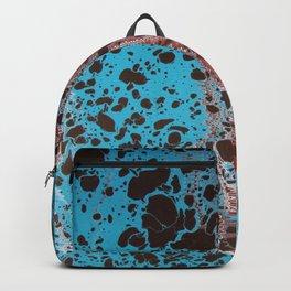 Robin Egg Shell Water Marbling Backpack