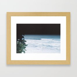 Surfing in Space Framed Art Print