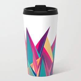 Triangles Intensive (White) Travel Mug
