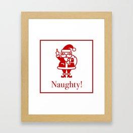 Angry Santa Framed Art Print