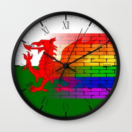 Gay Rainbow Wall Wales Flag Wall Clock