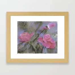 Dora Crowell's Summer Roses Digital Watercolor Framed Art Print