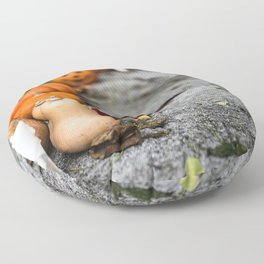 Pumpkin, Ground And Pathways, Candle Floor Pillow