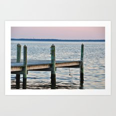 The Dock at Sunset Art Print