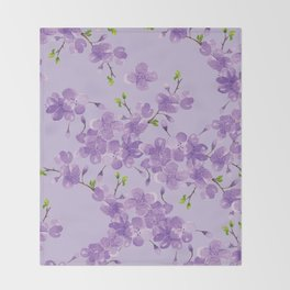 Cherry Blossoms in Spring Throw Blanket