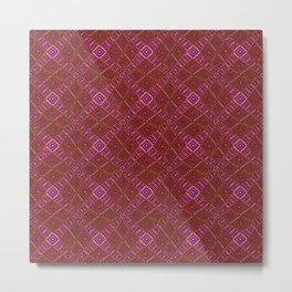 African Mud Cloth Inspired | Diamond Pattern Metal Print