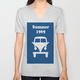 Summer 1969 - blue Unisex V-Neck