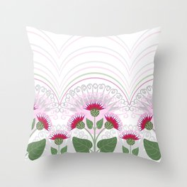 Burdock flowers Throw Pillow
