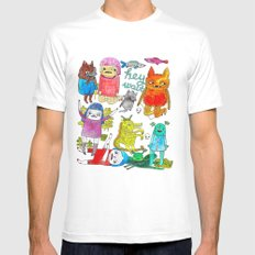 critter collection Mens Fitted Tee MEDIUM White