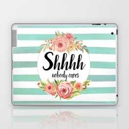 Shhh Shut up Laptop & iPad Skin