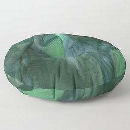 Shades of Evening Leaf Abstract Floor Pillow