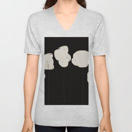 Soft as Cotton   Abstract Minimal Unisex V-Neck