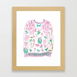 Ugly (but cute) Christmas Sweater Framed Art Print