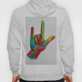 American Sign Language I love you Hoody