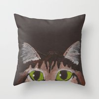 greg guillemin Throw Pillows featuring Greg by Adriana