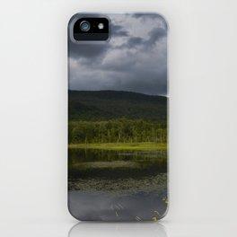 Long Pond in Eden, Vermont iPhone Case