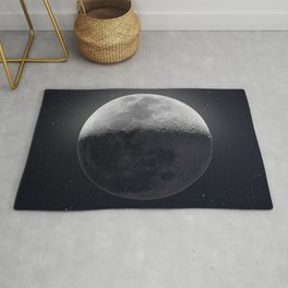Moon at night Rug