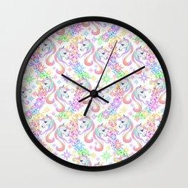 Unicorn Party 001 Wall Clock