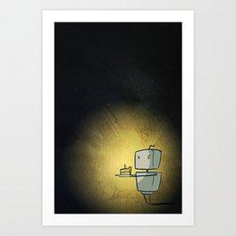Cutebots: candlebot Art Print